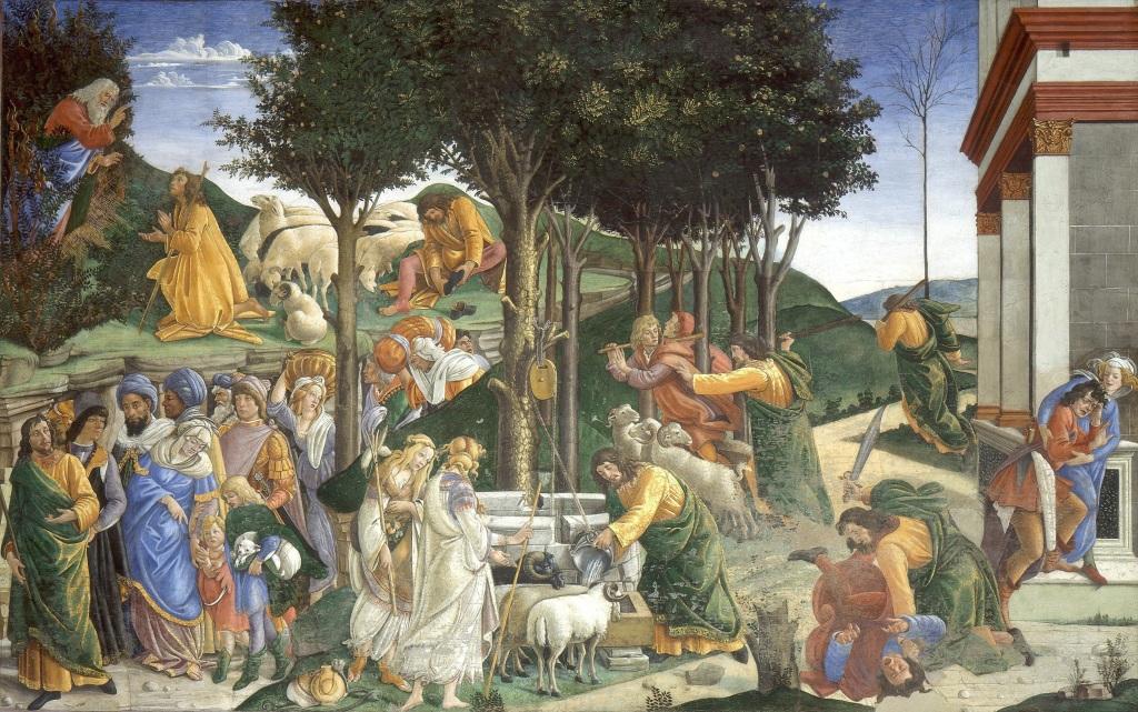 Sandro Botticelli, Youth of Moses, 1481-1482, Sistine Chapel, Vatican City