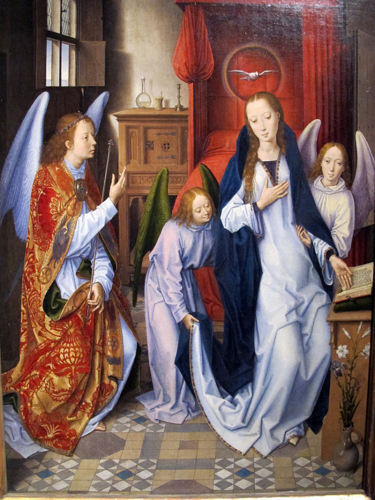 Hans Memling, Annunciation, 1480–89, Metropolitan Museum of Art, New York