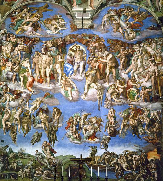 Michelangelo, Last Judgement, 1536-1541, Sistine Chapel's ceiling, Vatican City