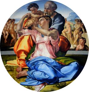 Michelangelo, Doni Tondo, 1507, Uffizi, Florence