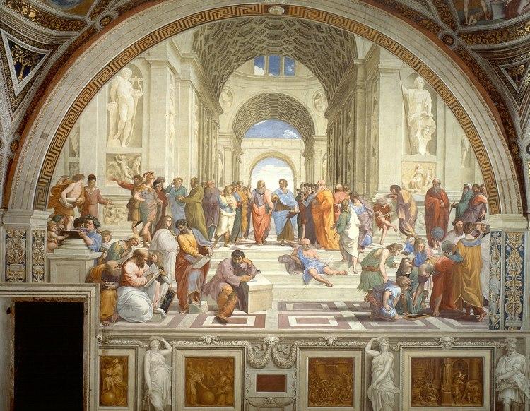 Raphael, The school of Athens (1509-1511 circa), Musei Vaticani, Città del Vaticano