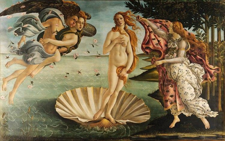 Sandro Botticelli, Birth of Venus, 1482-1485, Galleria degli Uffizi, Firenze