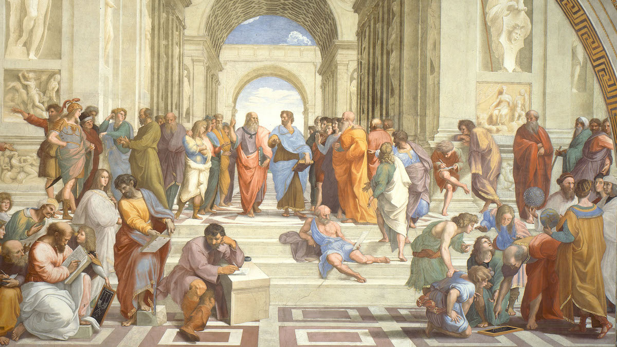 Raphael, The school of Athens (1509-1511 circa), Musei Vaticani, Vatican City