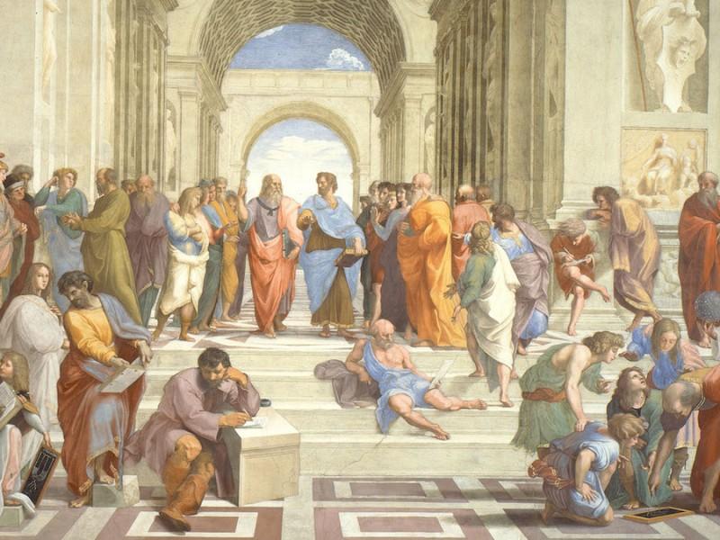 Raphael, The school of Athens (1509-1511 circa), Musei Vaticani, Vatican City