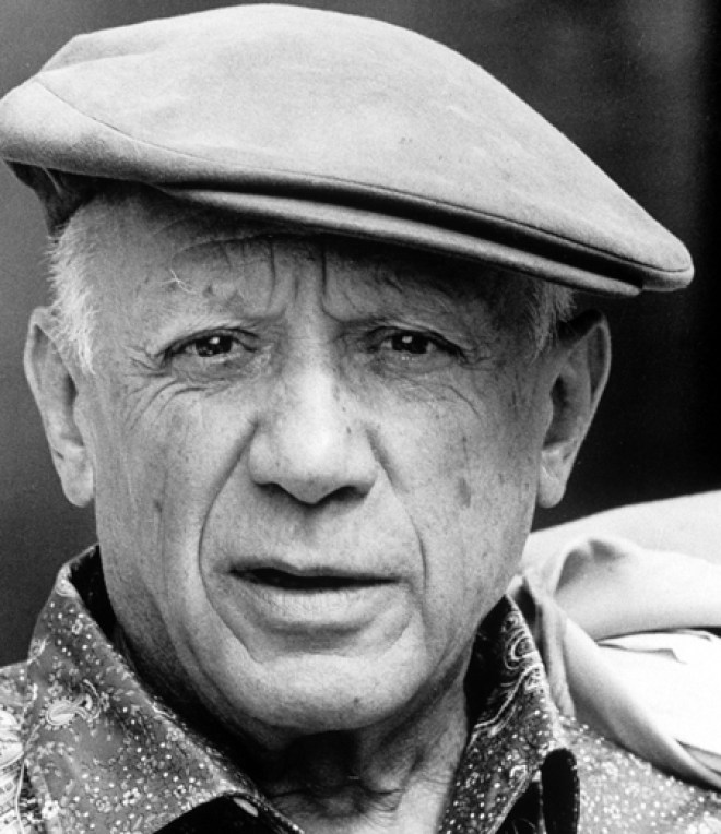 Pablo Picasso, in the January 1962