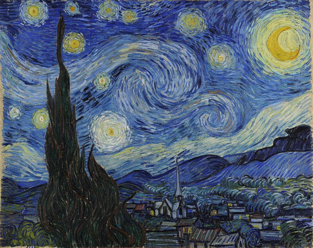 Vincent van Gogh, The Starry Night, 1889, Museum of Modern Art, New York City