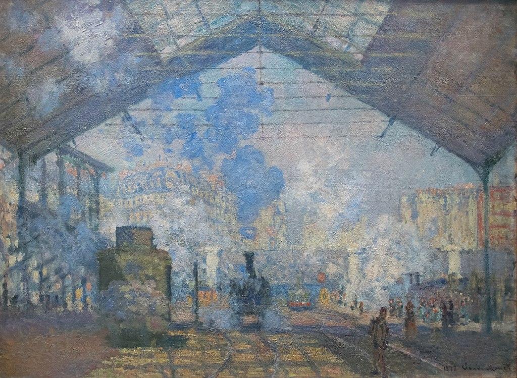 Claude Monet, La Gare Saint-Lazare, 1877, Musée d'Orsay
