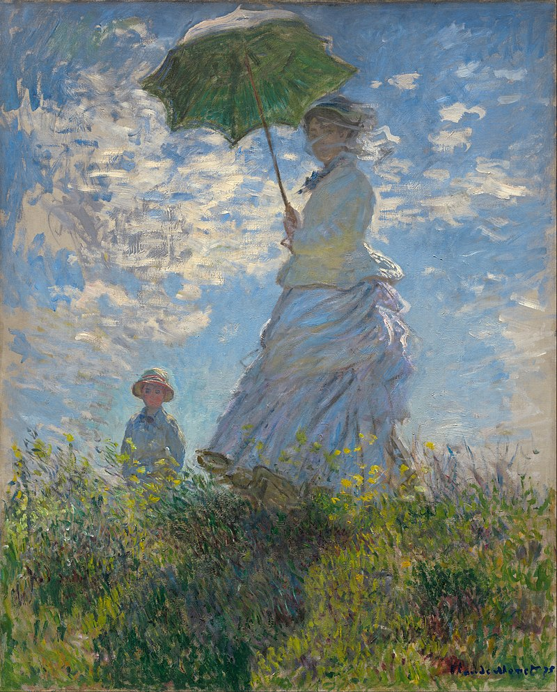 Woman with a Parasol - Madame Monet and Her Son, 1875, National Gallery of Art, Washington, D.C